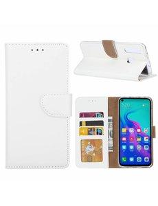 Ntech Ntech Hoesje voor Huawei nova 4 portemonnee hoesje / met opbergvakjes Wit