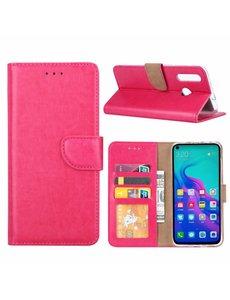 Ntech Ntech Hoesje voor Huawei nova 4 portemonnee hoesje / met opbergvakjes Pink