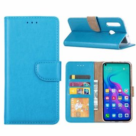 Ntech Ntech Hoesje voor Huawei nova 4 portemonnee hoesje / met opbergvakjes Blauw