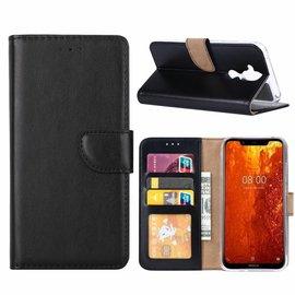 Ntech Ntech Hoesje voor Nokia 8.1 portemonnee hoes / met opbergvakjes Zwart
