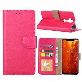 Ntech Ntech Hoesje voor Nokia 8.1 portemonnee hoes / met opbergvakjes Pink