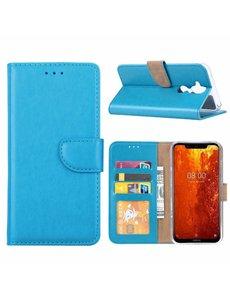 Ntech Ntech Hoesje voor Nokia 8.1 portemonnee hoesje / met opbergvakjes Blauw