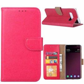 Ntech Ntech Hoesje voor Samsung Galaxy S10e portemonnee hoesje / met opbergvakjes Pink