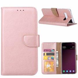 Ntech Ntech Hoesje voor Samsung Galaxy S10e portemonnee hoes / met opbergvakjes Rose Goud