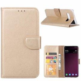 Ntech Ntech Hoesje voor Samsung Galaxy S10e portemonnee hoesje / met opbergvakjes Goud