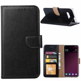 Ntech Ntech Hoesje voor Samsung Galaxy S10+ (Plus) portemonnee hoesje / met opbergvakjes Zwart