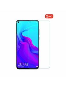 Ntech Ntech 2Pack Huawei Honor view 20 Screenprotector Tempered Glass