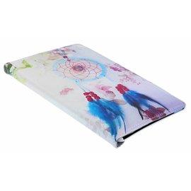 Ntech Ntech Samsung Galaxy Tab A 10,1 SMT590 /T595 Dromenvanger & Bloemen 360° draaibaar Booktype Kunstleer Hoesje