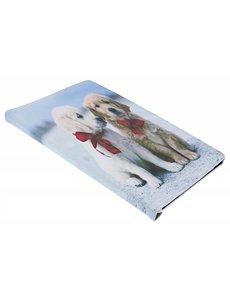 Ntech Ntech Samsung Galaxy Tab A 10,1 SMT590/T595 Puppy & Strikje 360° draaibaar Booktype Kunstleer Hoesje