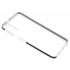Ntech Ntech Samsung Galaxy A7 (2018) Zwart &Transparant Anti Drop Shock TPU Hoesje
