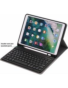 Ntech Keyboard hoesje met Stylushouder iPad 9.7 (2017-2018) / Air - Zwart