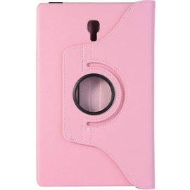 """Ntech Ntech Samsung Galaxy Tab A 10.5"""" SM T590 / T595 2018 licht Roze Tablet Hoesje met 360° draaistand"""