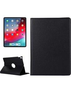 Merkloos Apple iPad Pro 12.9 inch hoesje 360° Rotating hoesje Case + 4 in 1 Styuls Zwart