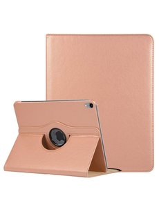 Ntech Ntech Apple iPad Pro 11 inch hoesje 360° Rotating hoesje Case + 4 in 1 Styuls Rose Goud