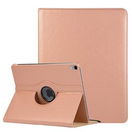 Ntech Ntech Apple iPad Pro 11 inch hoesje 360° Rotating  Multi stand Hoes Case + 4 in 1 Styuls Rose Goud