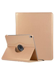 Ntech Ntech Apple iPad Pro 11 inch hoesje 360° Rotating hoesje Case + 4 in 1 Styuls Goud