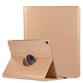 Ntech Ntech Apple iPad Pro 11 inch hoesje 360° Rotating  Multi stand Hoes Case + 4 in 1 Styuls Goud