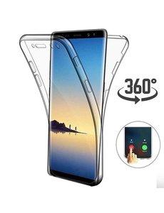 Ntech Ntech Samsung Galaxy S10 Dual TPU Case hoesje 360° Cover 2 in 1 Case ( Voor en Achter) Transparant