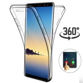 Ntech Ntech Samsung Galaxy S10 Lite Dual TPU Case hoesje 360° Cover 2 in 1 Case ( Voor en Achter) Transparant