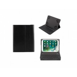 Merkloos Zwart Magnetically Detachable/Wireless Bluetooth Keyboard hoes Samsung Galaxy Tab S3 9.7/Tab E 9.6