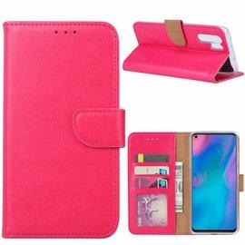 Ntech Ntech Hoesje voor Huawei P30 Pro portemonnee hoesje / met opbergvakjes Pink