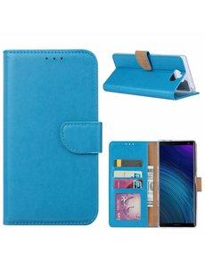 Ntech Ntech Hoesje voor Sony XA3 Ultra portemonnee hoesje / met opbergvakjes Blauw