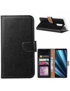 Ntech Ntech Hoesje voor Sony Xperia 1 portemonnee hoesje / met opbergvakjes Zwart