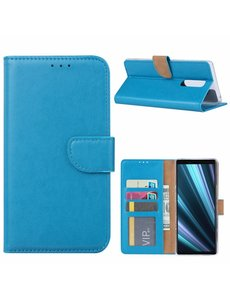 Ntech Ntech Hoesje voor Sony Xperia 1 portemonnee hoesje / met opbergvakjes Blauw