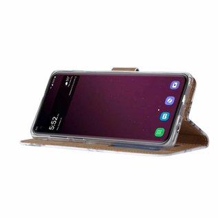Ntech Ntech Samsung Galaxy S10+ Plus Marmer Design Boek Hoesje Met Pasjesruimte & flapje