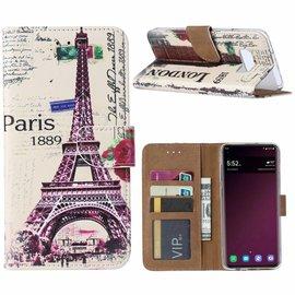 Ntech Ntech Samsung Galaxy S10+ Plus Eiffeltoren (1889) Design Boek Hoesje Met Pasjesruimte & flapje