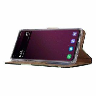 Ntech Ntech Samsung Galaxy S10+ Plus Camouflage Design Boek Hoesje Met Pasjesruimte & flapje