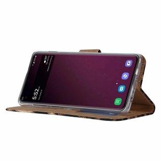 Ntech Ntech Samsung Galaxy S10E Luipaard Design Booktype Kunstleer Hoesje Met Pasjesruimte