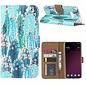 Ntech Ntech Samsung Galaxy S10E Cactus & Bloemen Design Boek Hoesje Met Pasjesruimte & flapje