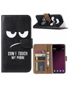 Ntech Ntech Samsung Galaxy S10e Quote & Print Boek hoesje met Pasjesruimte