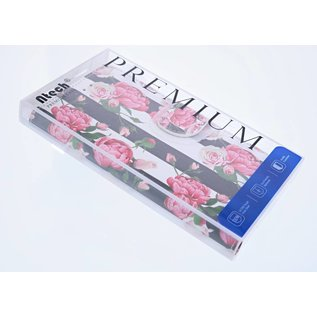 Ntech Ntech Samsung Galaxy S9 Vintage Roses & Stripes Design Boek Hoesje Met Pasjesruimte & flapje