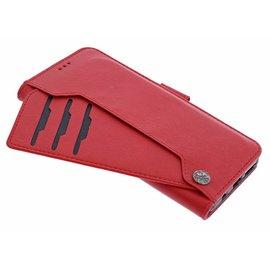 Ntech Ntech Samsung Galaxy S10+ Plus Flip Cover met Magneet flapje en Uitschuifbare Kaartenhouder Rood