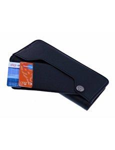 Ntech Ntech Samsung Galaxy S10 Flip Hoesje & Uitschuifbare Pasjeshouder Zwart