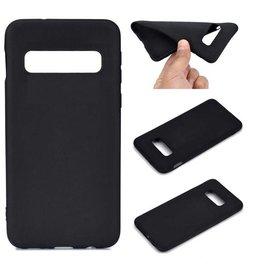 Ntech Ntech Samsung Galaxy S10 Zwart Hoesje Durable Flexible & Scratch Resistent Clear TPU Case