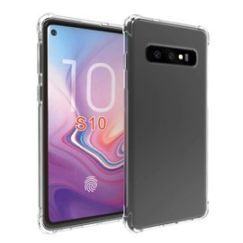 Ntech Ntech Samsung Galaxy S10 Transparant Anti Burst Hoesje / Shock Proof Crystal Clear TPU Case