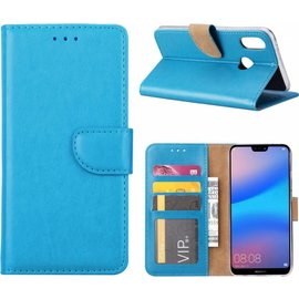 Ntech Ntech Hoesje voor Huawei P Smart (2019) Portemonnee / Booktype hoesje / met opbergvakjes Turquoise