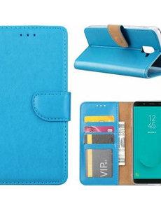 Ntech Ntech Samsung Galaxy J6+ (Plus) 2018 case Turquoise Portemonnee / Booktype hoesje met opbergvakjes
