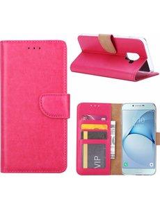 Ntech Ntech Samsung Galaxy A6 (2018) case Roze Portemonnee hoesje met opbergvakjes