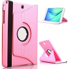 Merkloos Samsung Galaxy Tab S2 9.7 Inch Hoes Cover 360 graden draaibare Case licht roze