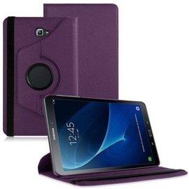 Merkloos Samsung Galaxy Tab A 10.1 draaibare hoes Paars