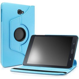 Merkloos Samsung Galaxy Tab A 10.1 (2016) t580/t585 Tablethoes Book Cover 360� Draaibare Case Turquoise