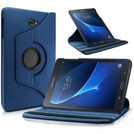 Merkloos Samsung Galaxy TAB A 10.1 2016 (T580-T585) hoes 360 graden draaibaar met  Multi-stand- Donker Blauw