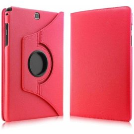 Merkloos Samsung Galaxy Tab A 9,7 inch SM-T550 Tablet Case met 360ᄚ draaistand cover hoes kleur Rood