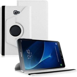 Merkloos Samsung Galaxy Tab A 10.1 draaibare hoes Wit