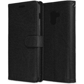 mk24 Samsung Galaxy A8 2018 hoesje - Bookcase Wallet Zwart