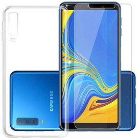 mk24 Transparant Hoesje voor Samsung Galaxy A7 (2018) Soft TPU Gel Siliconen